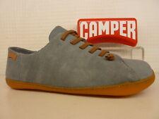 Camper Peu Cami K100249-014 Grey Blue Suede Leather Elastic Lace Mens Shoe