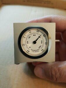 Levenger Clock Thermometer, Hygro, Clock Combo Metal Cube
