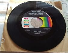 "BURL IVES~Decca Records~""Call Me Mr. In-Between""&What you gonna do Leroy?""~45"