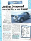 Amilcar Compound 1938 France Car Auto FICHE FRANCE