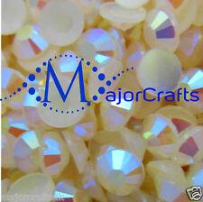 1000pcs Cream Ivory AB 5mm ss20 Flat Back Resin Rhinestones Nail Art Gems C43