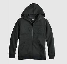 NEW Vans Youth Boy's LS The Colver Full Zip Hoodie Sweatshirt MEDIUM Black Hoody