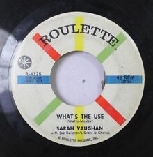 Jazz 45 Sarah Vaughn - What'S The Use / True Believer On Roulette