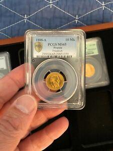 Prussia. Friedrich III gold 10 Mark 1888-A MS65 PCGS, Berlin mint, KM51 Gold