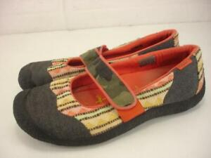 Women's sz 10 M Keen Harvest Mary Jane Shoes Slip-On Loafer Vegan Colorful Tweed