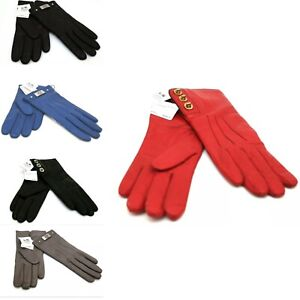 Coach Women's winter Gloves Gorgeous Warm Stylish Leather 5 Colors