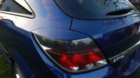 Vauxhall OPEL Astra H  05-10 GTC, REAR eyebrows  ABS plastic headlight spoiler