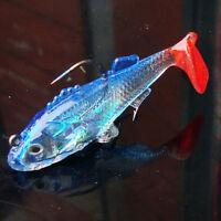 1 X Fishing Lures Set Shape Spoon Paillette Fishing Lure Soft Baits Treble MO