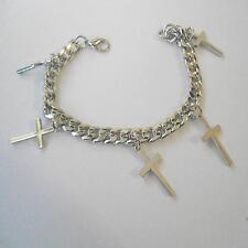 MEN'S BRACELET chain color steel crosses pendants - 21 CM - 3 M