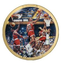 Vtg 1996 Michael Jordan Limited Edition Collector's Plate 1986 Playoffs w/ COA