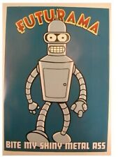 Futurama Poster Bender Bite My Shiny Metal Ass