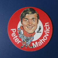 PETER PETE MAHOVLICH  1973  MAC's  MILK NHL DISC  Montreal Canadiens 1974  73-74