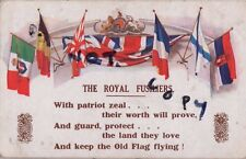 WW1 Military Art Patriotic Allied Flags Jack Shellton Royal Fusiliers