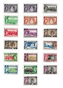 MONTSERRAT (A3-1)1953 SG136A-149A FULL SET OF 19 (ALL 1 & 11) GOOD TO FINE USED