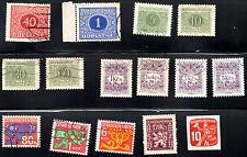 stamps CZECHOSLOVAKIA D5(2) D7(4) D8(4) D9(3) O1 N4 LOT
