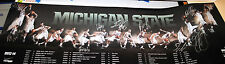 2013-14 Michigan State Spartans TEAM SIGNED mens basketball schedule poster e