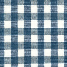 Cute Check Cotton! Roth & Tompkins Drapery Upholstery Fabric Chester French Blue