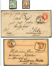 ÖSTERREICH WIEN 115 NEUSTIFT 1870-1950 ca kleine ORSTSTEMPELSAMMLUNG(57515c