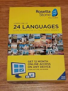 Rosetta Stone Full Course Learn one of 24 Languages with 1 Year access