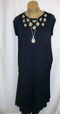 La Mouette: elegantes Sommerkleid, Shirt-Kleid, navy, Viskose, Stretch, 50 - 52