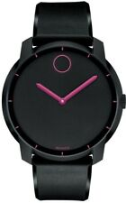 Movado Bold Unisex 3600192 Black Dial Silicone Band 44mm Watch 130866