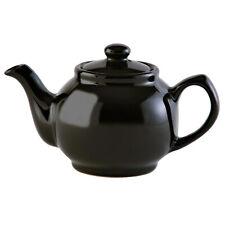 Price & Kensington Brights Black Porcelain 2 Cup Teapot Pottery Kitchen Tea Pot