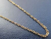 Vintage thin  17.5 inch long 9ct gold chain