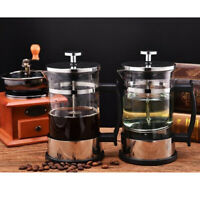 Stainless Glass Classic French Press Coffee Maker 350ml 12oz Silver 1-2Cup