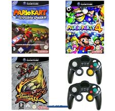 ## Mario Kart + Mario Party 4 + Smash Football + 2 Pads für Nintendo GameCube GC
