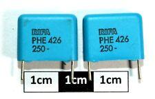 Condensador de película de polipropileno Rifá PHE426 0.47uF 250Vdc (paquete de 2)