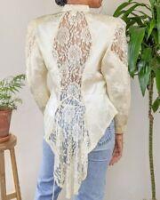 Vintage Rare Victorian Edwardian Romantic Lace Bodice Blouse Gunne Sax Style