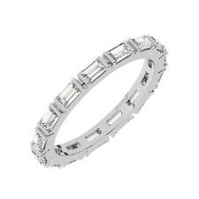 1 Karat Bar Set Baguette Cut Diamanten Voll Eternity Ring in 950 Platin