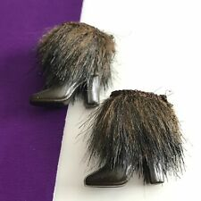 Silkstone Barbie Skiing Vacation Ankle Boots with Brown Fur Trim BFMC 2004