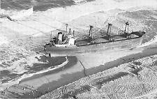 "The Maltese Freighter ""Eldia"" Aerial View of Wreckage Vintage Postcard V13469"