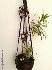 "Set of 2 handmade Macrame plant hanger hanging planter plant holder pot hang 46"""