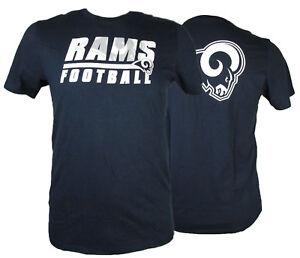 Los Angeles Rams Men's 47 Brand NFL Short Sleeve T-Shirt Navy Blue S - XXL