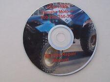 Yamaha Moto-4 YFM 200 225 250 350  1985-1995 Service Manual on CD, 4X4 Utility.