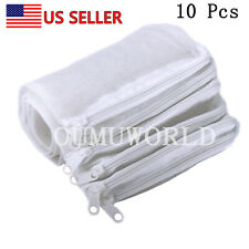 10pcs Filter Media Bags Reusable Aquarium Fish Tank Pond Net Mesh Bag White US
