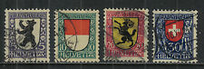 Switzerland 1924 Pro Juventute--Attractive Heraldry Topical (B29-32) fine used