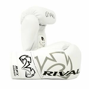 Rival Boxing RFX Guerrero HDE-F Pro Fight Gloves Lace Up White Bag Pads Mitts
