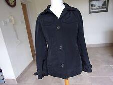 LAND'S END Ladies Black Showerproof Jacket. size Small - Med
