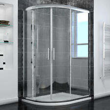 Quadrant Shower Enclosure Screen Glass Cubicle Door Screen Stone Tray+ Riser Kit