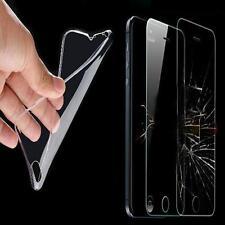 Schutzhülle Tasche 0,3mm TPU Silikon Handy Hülle Transparent + 9H PANZERFOLIE