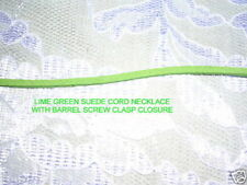 NEW CUSTOM FUN LIME GREEN COLOR SUEDE LACE LEATHER CORD NECKLACE 24 INCH