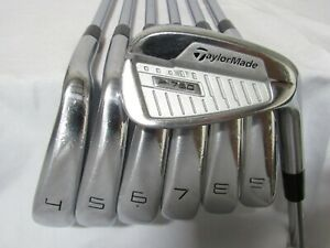 Used RH TaylorMade P-760 Iron Set 4-P Extra Stiff Flex Steel Shafts