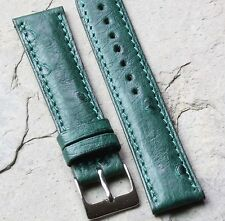 Short Length Genuine Ostrich 18mm vintage watch band by Torneau NOS 1960s/70s