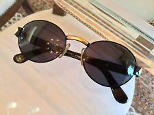 Occhiale Da Sole Donna Vintage Originale Anni '90 GIANFRANCO FERRÉ Round Nero