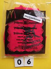 MIP McDonald's 2006 Pirates Caribbean #1 BANDANA Do Rag Sgl Pirate DEPP Dress Up