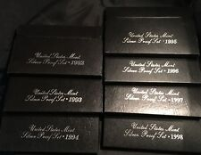 Lot of 7 United States Mint Silver Proof Sets (1992 through 1998)