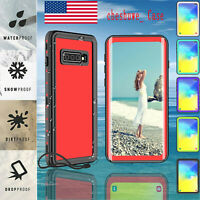 For Samsung Galaxy S10 Plus Waterproof Case screen protector Cute phone Cover